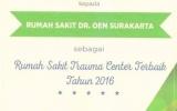 RUMAH SAKIT TRAUMA CENTER 2016